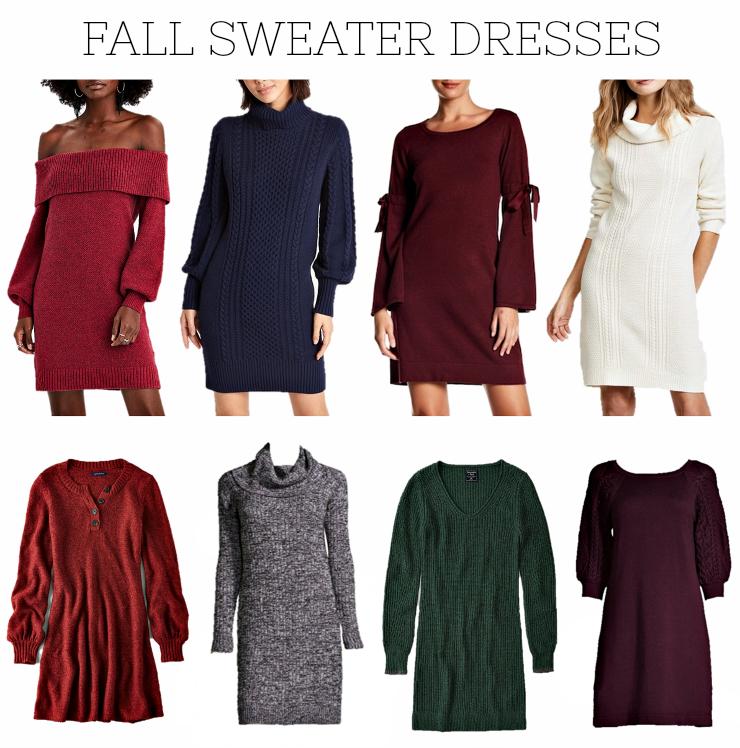 fall sweater dresses