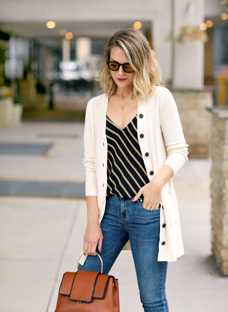 ivory buttoned cardigan