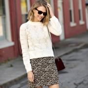 LOFT Leopard Skirt