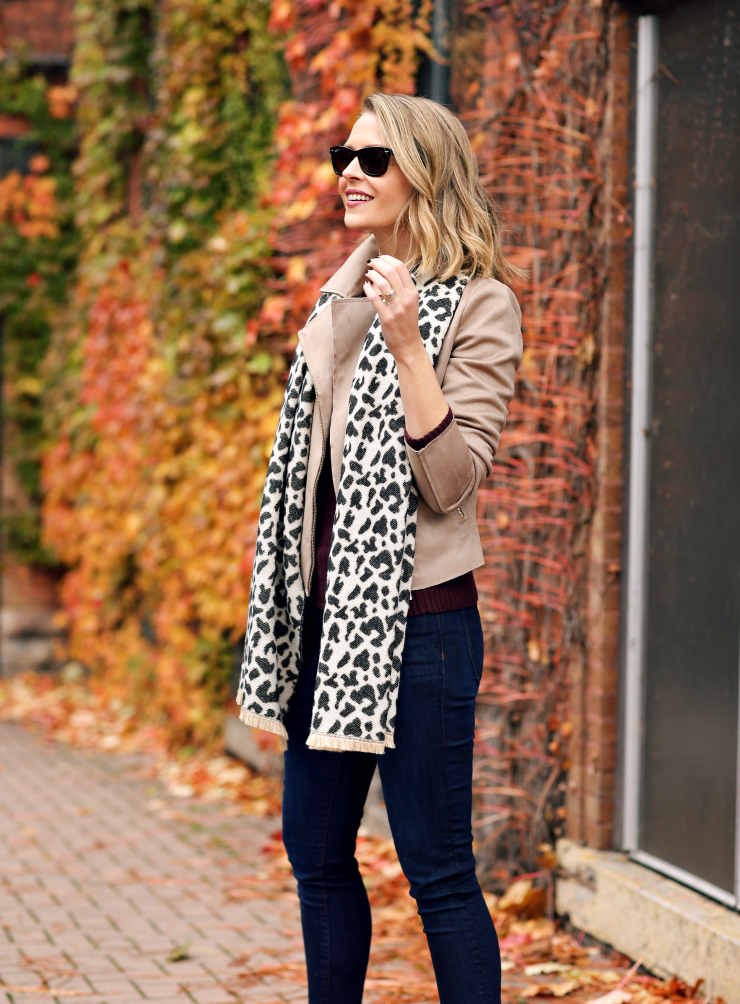 Ann Taylor Factory Leopard Scarf