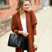 balloon sleeve cardigan