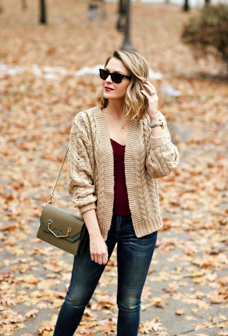 Blank NYC Cable Knit Cardigan