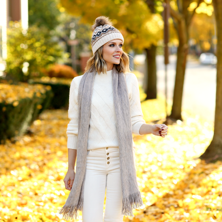 brushed neutral scarf