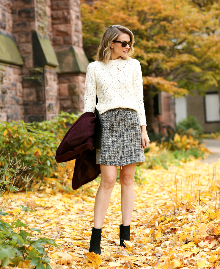 classic tweed skirt