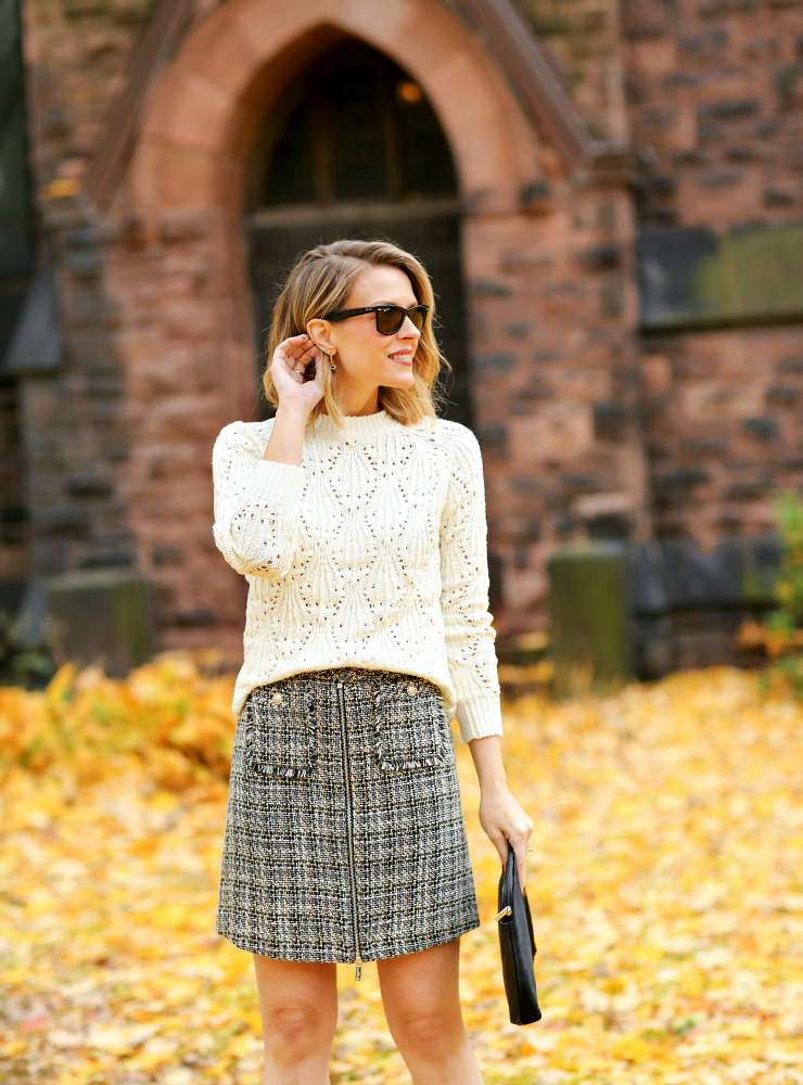 Karl Lagerfeld Paris Tweed Skirt
