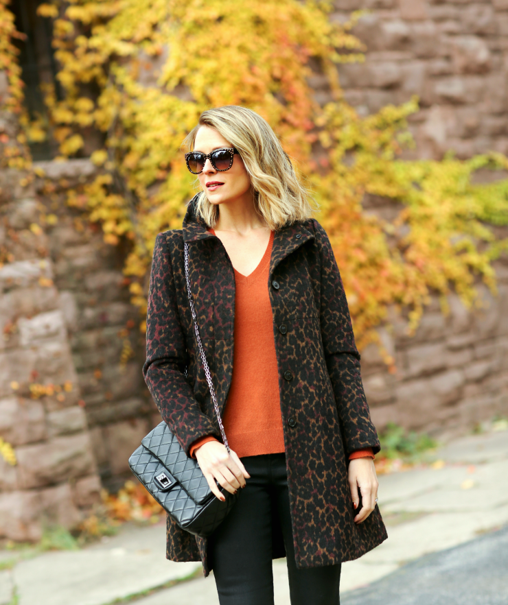 Via Spiga Leopard Coat
