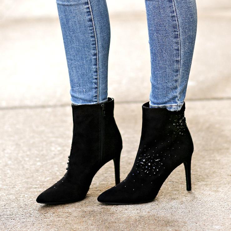embellished booties