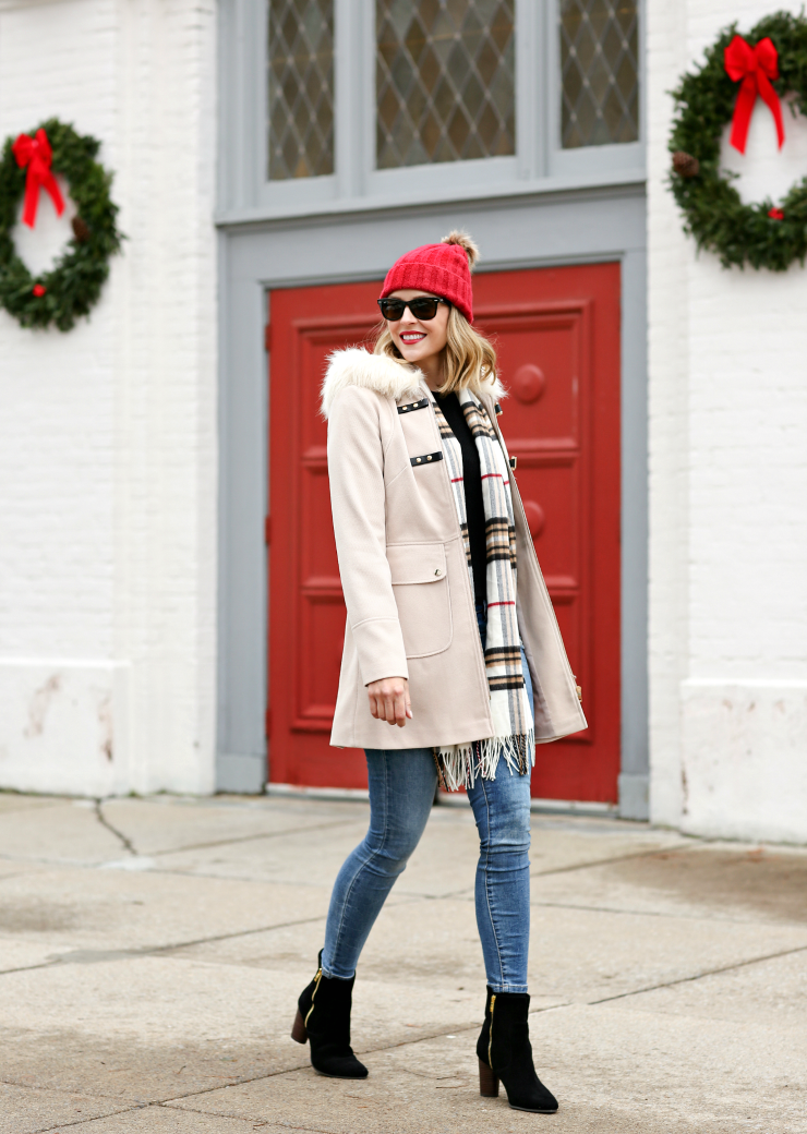 neutral winter coat