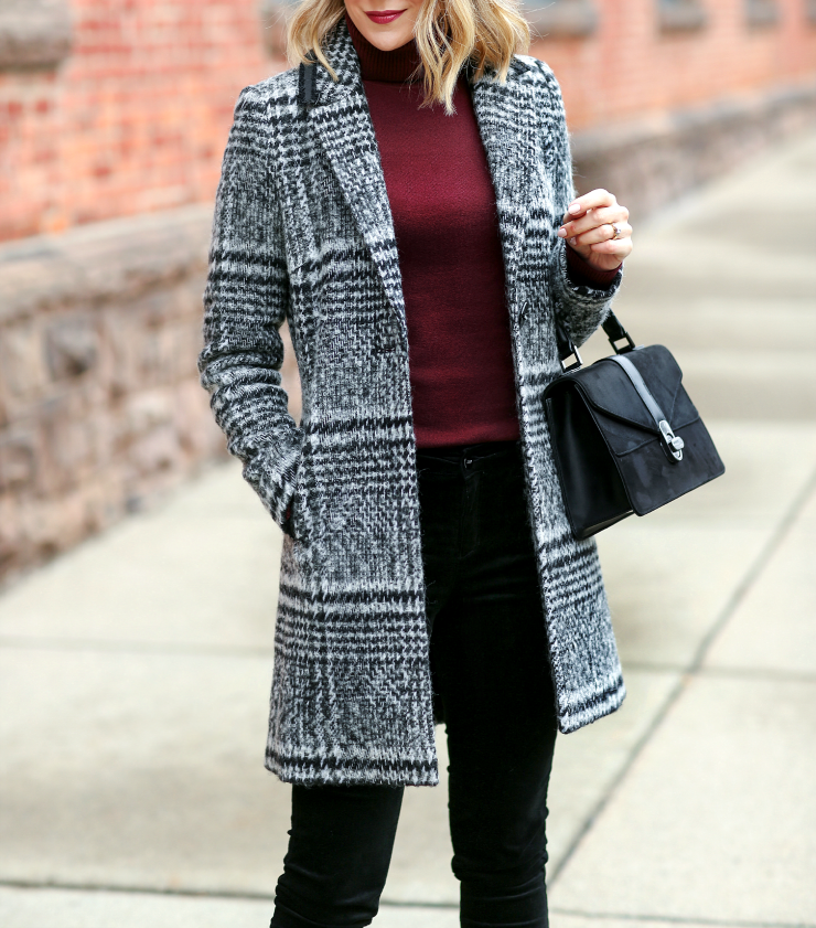 Sam Edelman Plaid Coat
