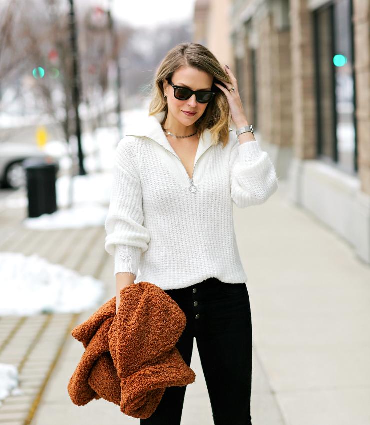 BP Zip Front Sweater
