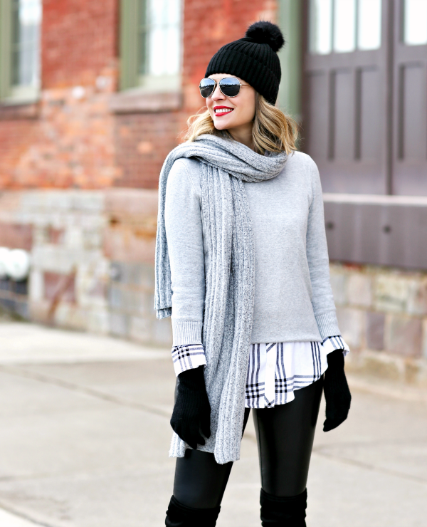 casual winter layers