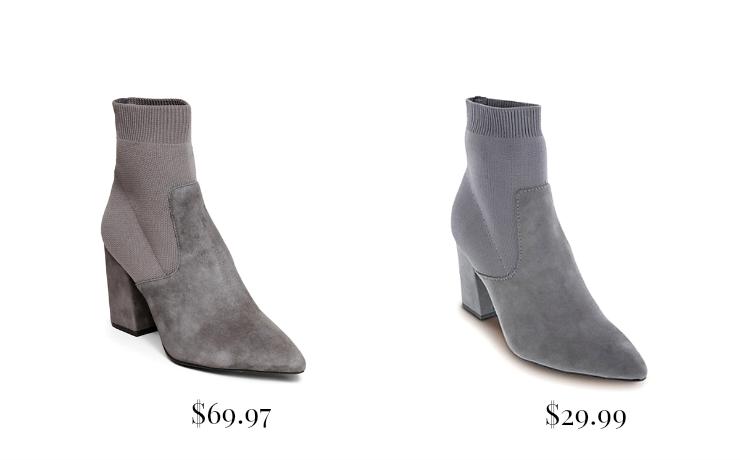 gray sock booties