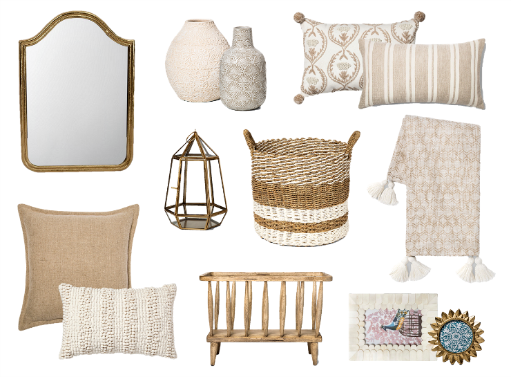 neutral home decor for spring