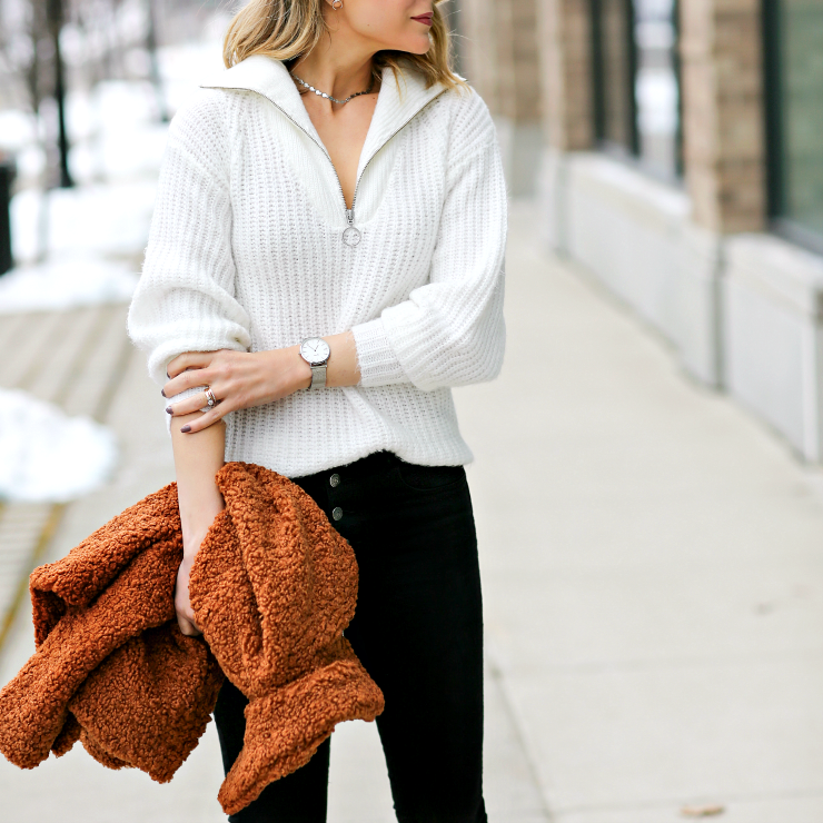 zippered pullover
