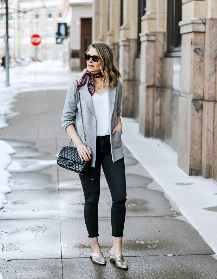 how to style a sweater blazer