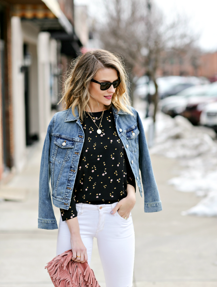 Madewell shrunken denim jacket