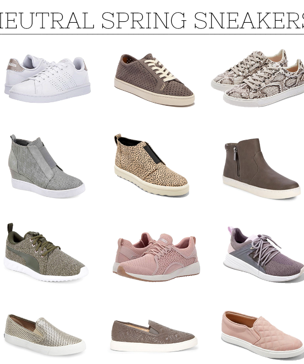 neutral spring sneakers