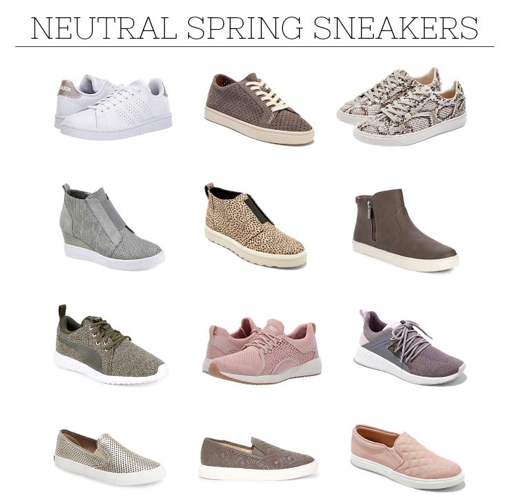 neutral spring sneakers