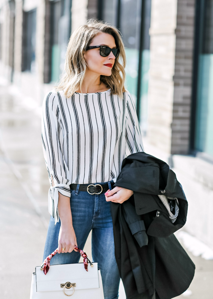 Nine West Striped Blouse