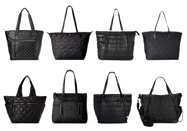 the best quilted nylon totes
