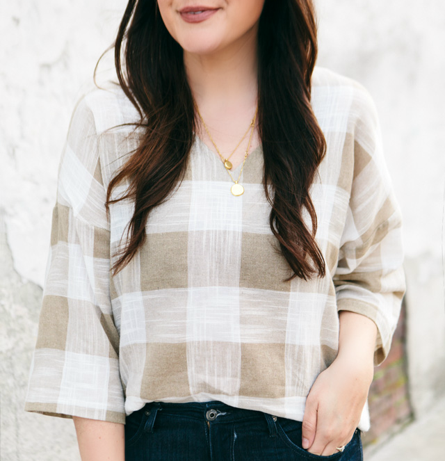 Everyday & Co gingham top