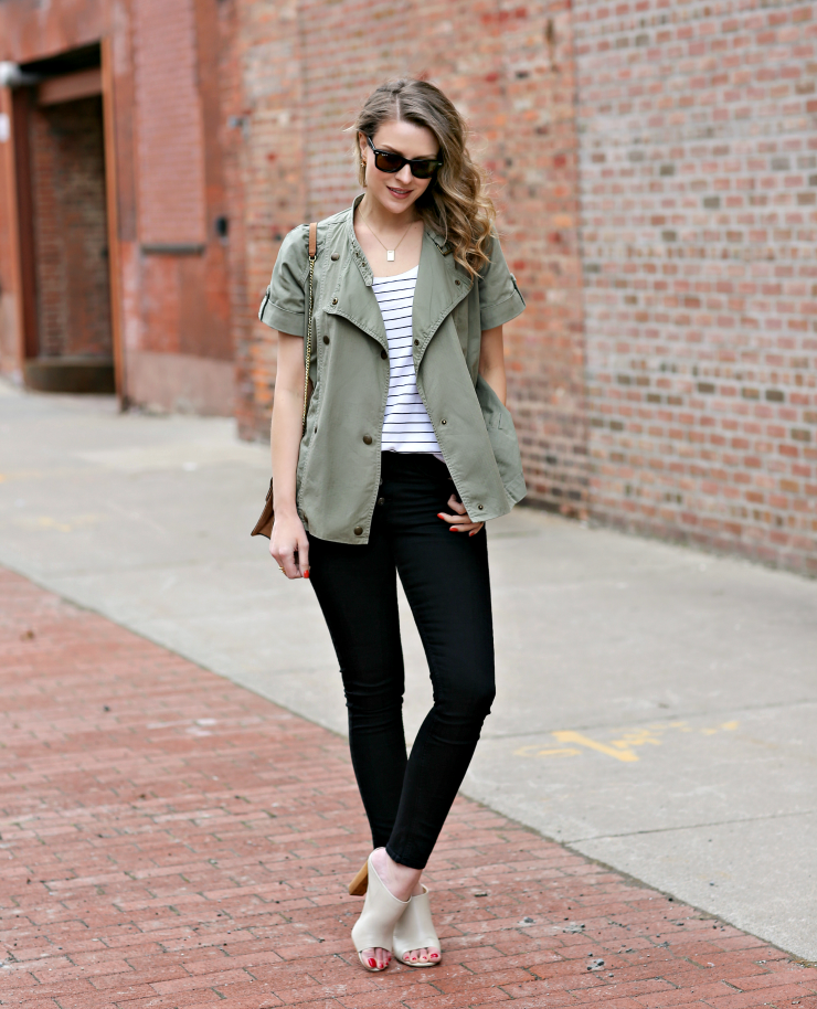 how to style a cargo jacket