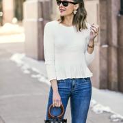 CeCe peplum sweater