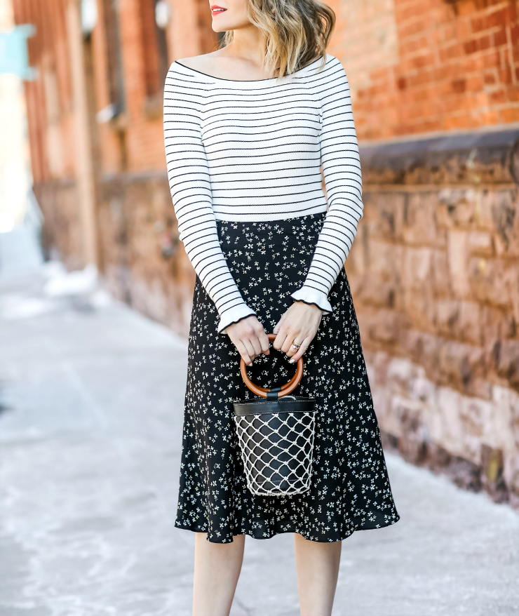how to mix stripes & florals