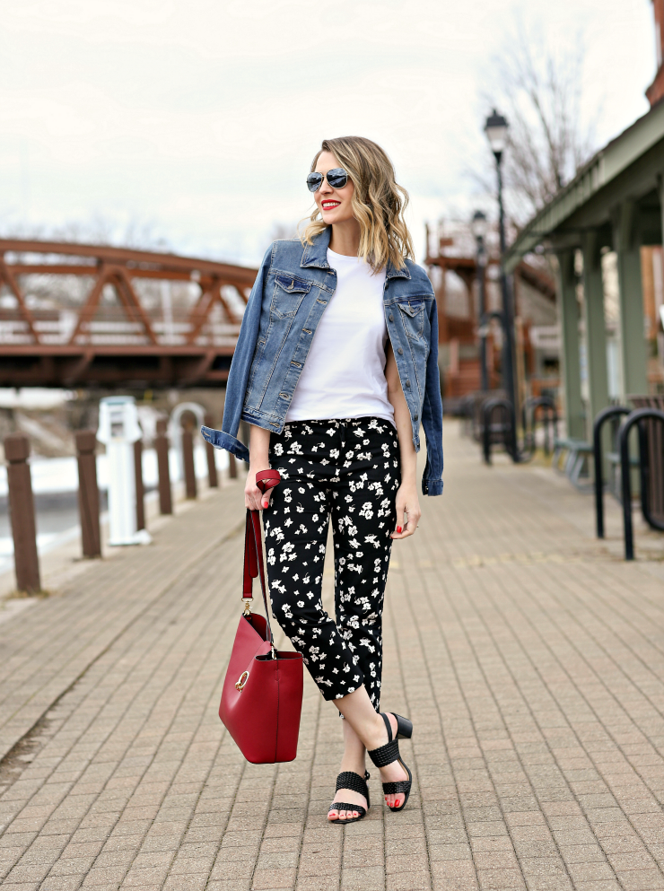 Lord & Taylor Floral Cropped Pants