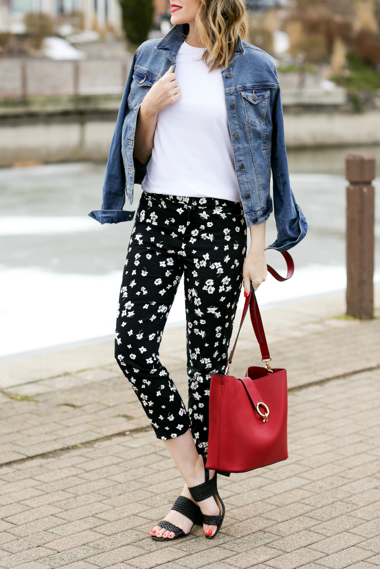 Lord & Taylor Floral Pants