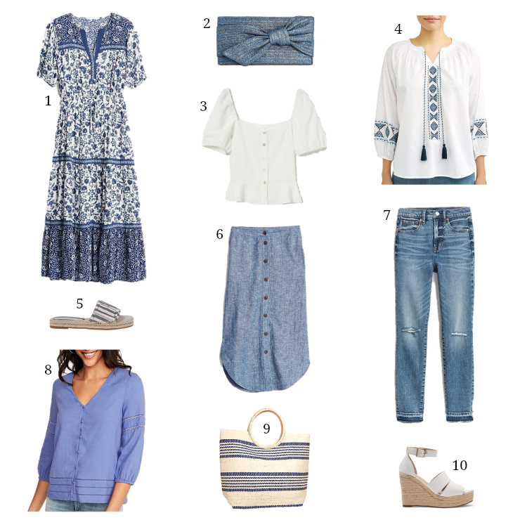 blue & white favorites