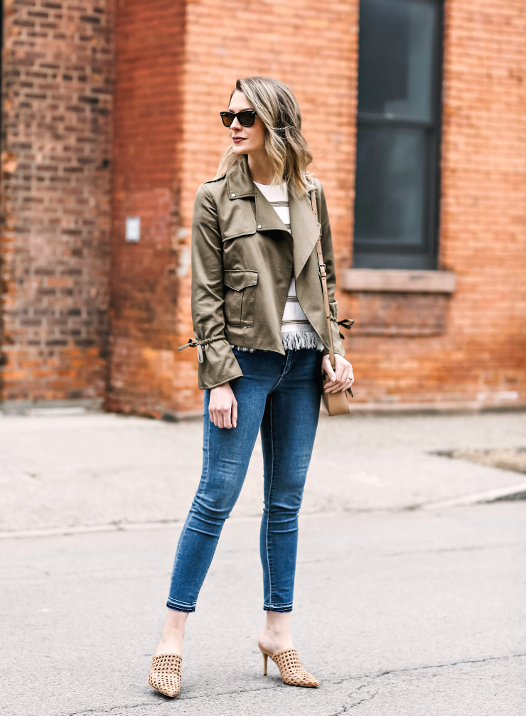 how to style a utility jacket for spring