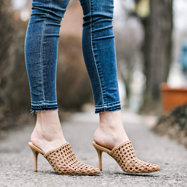 INC Woven Mules