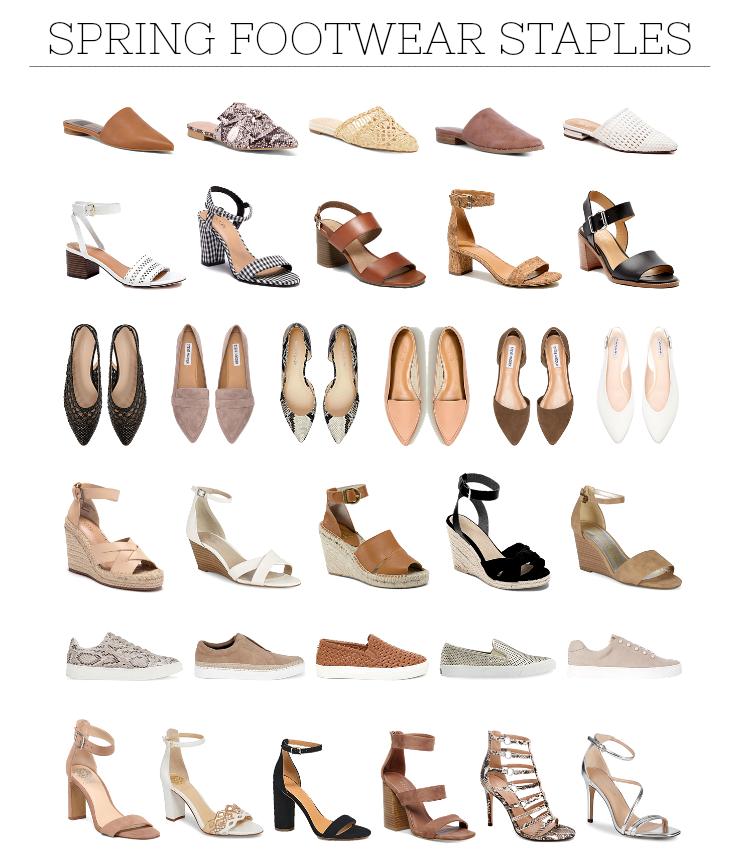 spring footwear under $60