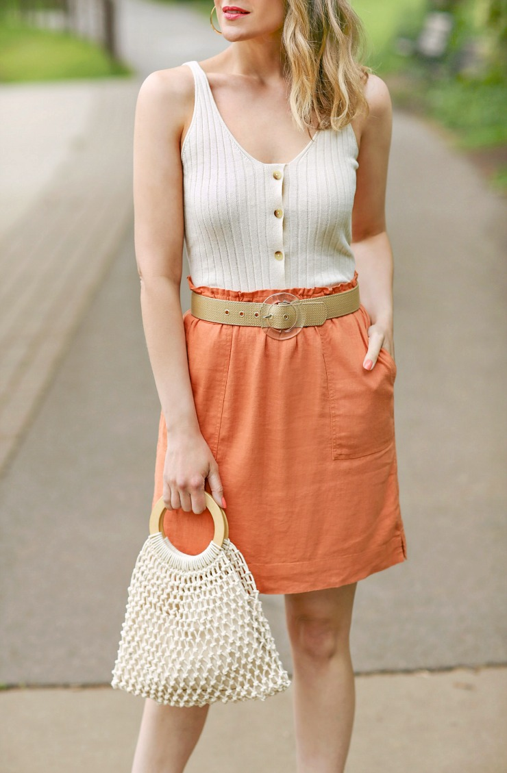 BP Buttoned Sweater Tank