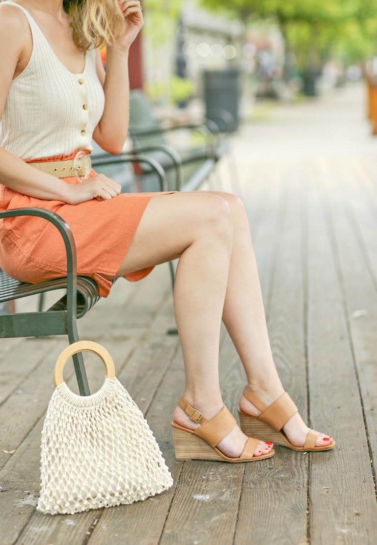 Halogen Wedge Sandals
