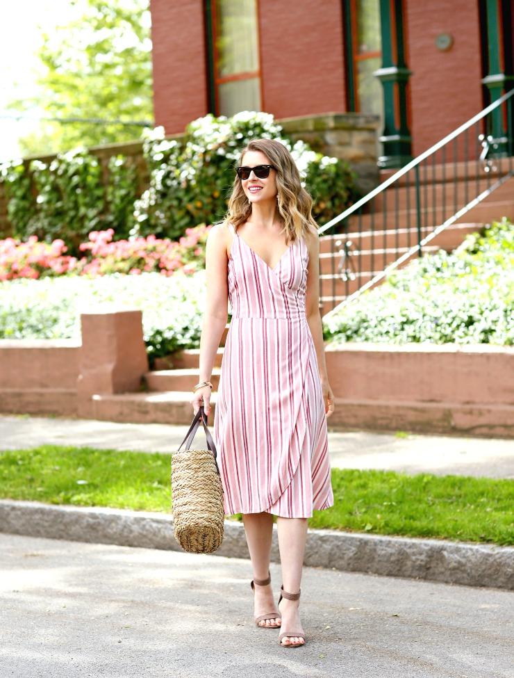 ana Striped Dress