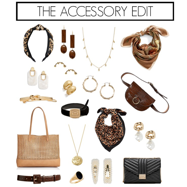 chic neutral accessories