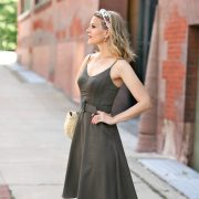 classic belted sundress