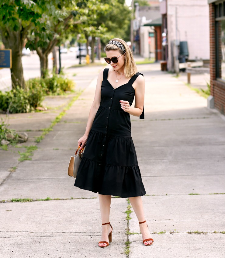 Who What Wear Tiered Midi Dress