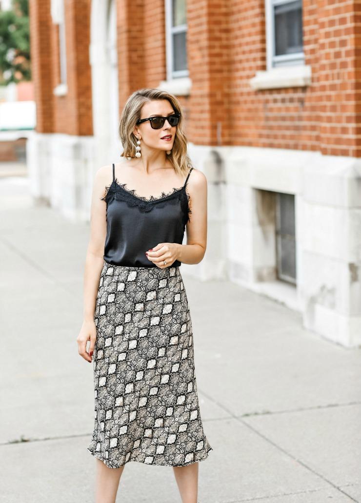 Love Sadie Bias Cut Midi Skirt