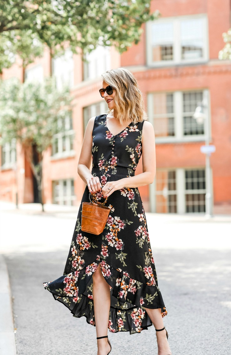 Maurice's Floral Smocked Waist Maxi Dress
