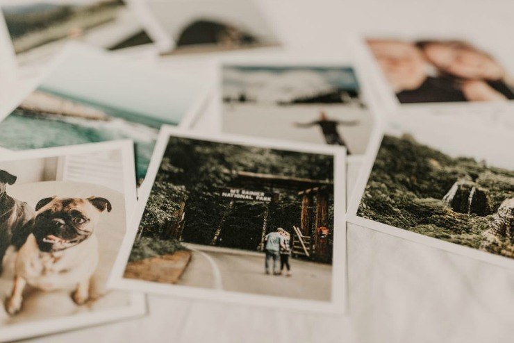 organizing family photos