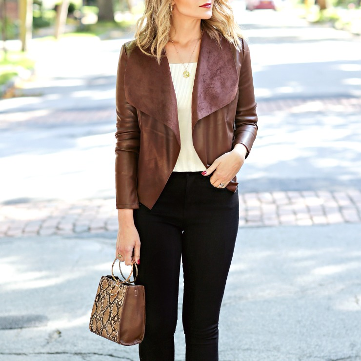 Bagatelle Faux Leather Jacket