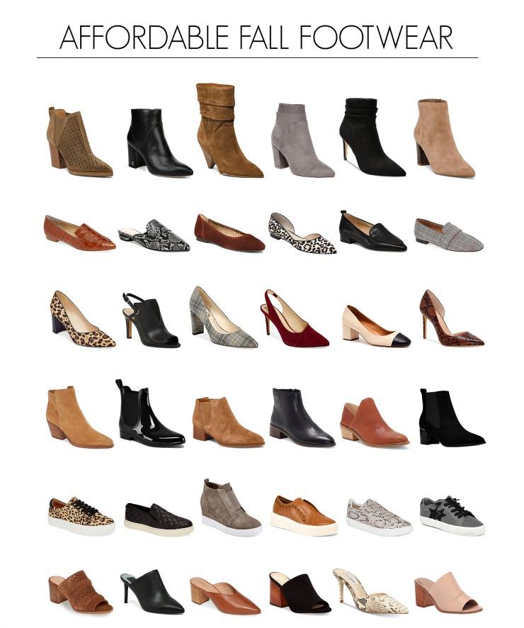fall footwear under $80