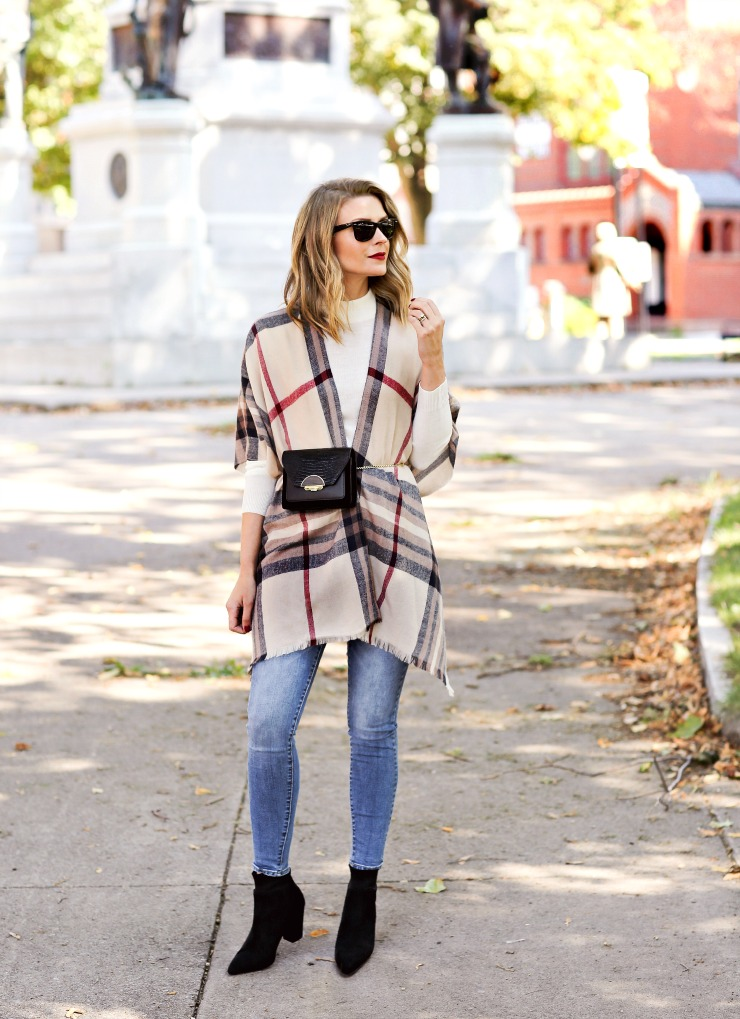 how to style a poncho for fall