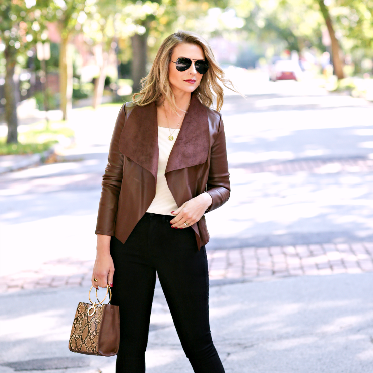 how to wear black & brown together