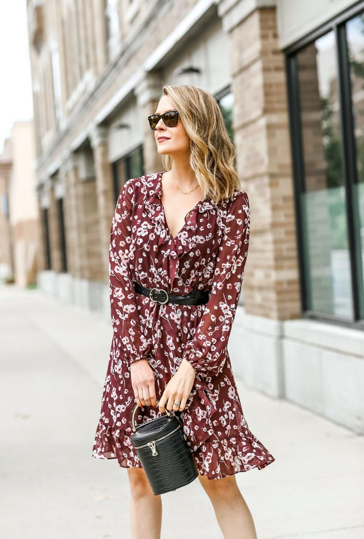 INC Floral-Print Ruffle Dress