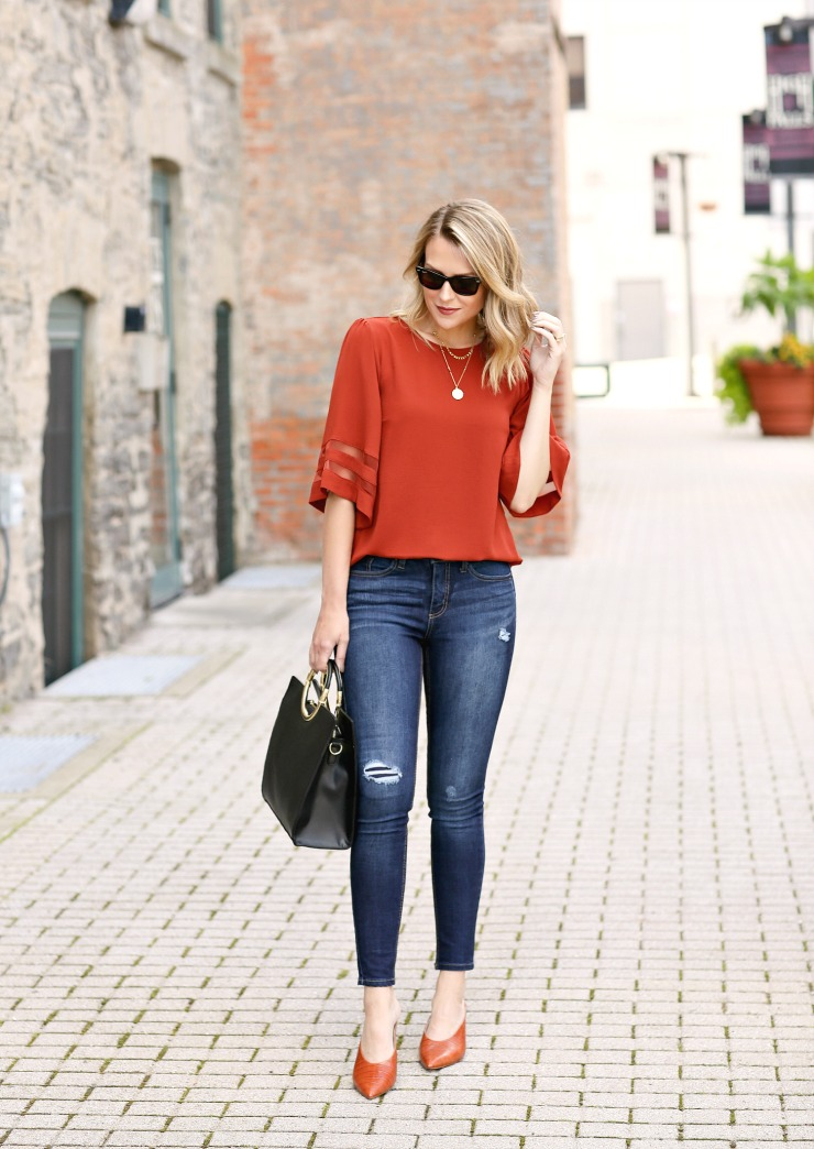 rust colored pieces for fall