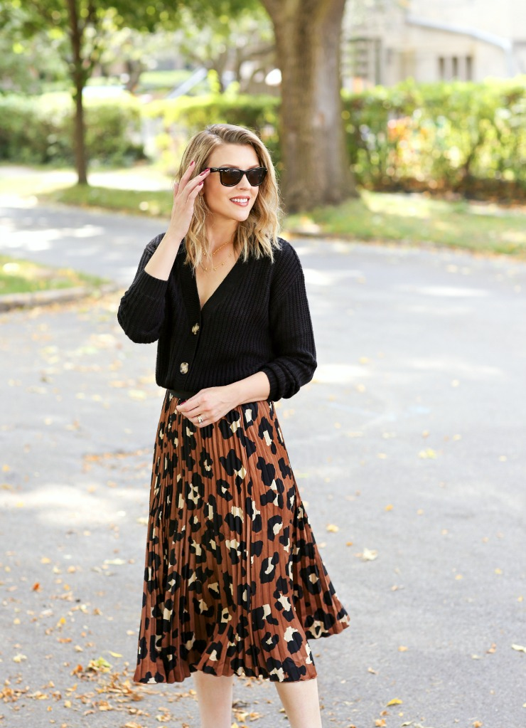 Worthington Leopard Print Skirt